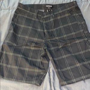 Quicksilver Grey Plaid Shorts